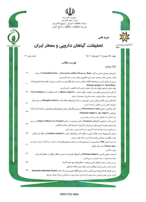 تحقیقات گیاهان دارویی و معطر ایران